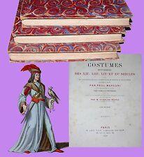 Blasco Ibanez Costumes Historiques 200 tavole LEVY FILS LIBRAIRE 1862 Bonifacio
