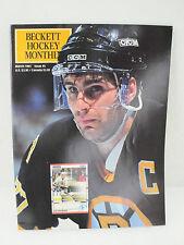 Vintage Beckett Hockey Magazine March 1991