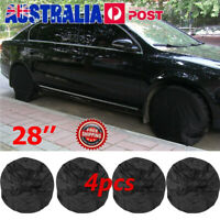 4pcs/Set 28'' inch Wheel Tire Tyre Covers for RV Truck Car Camper Trailer Black