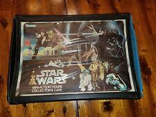 Vintage Star Wars Action Figures Vinyl Collectors Case w/ Tray~Kenner