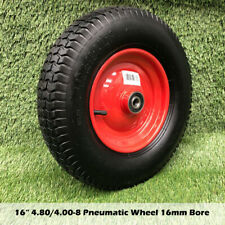 "16"" 4.80/4.00-8 16mm Bore Wheelbarrow Trolley Tyre Wheel Wheels Pneumatic Tyres"