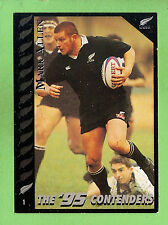 "1995 NEW ZEALAND  ALL BLACKS RUGBY UNION CARD  #1 MARK ""BULL""  ALLEN"