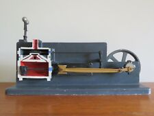 VINTAGE CUTAWAY MODEL OF A PISTON VALVE STEAM ENGINE  & GOVERNOR 1950/60'S