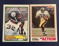 1983 Topps #362 FRANCO HARRIS w 1982 Topps 212 IN ACTION Pittsburgh Steelers Lot