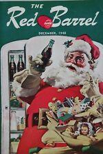THE RED BARREL December 1948 Santa Claus EMPLOYEE Magazine COCA-COLA vintage