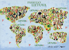 More details for lithuania 2018 mnh lithuania in the world 6v s/a m/s geography maps stamps