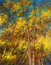 Aspen Colorado Autumn Trees  20x16 in.Oil on stretched canvas Hall Groat Sr.