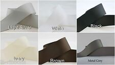 5yds~~38mm Solid Grosgrain Ribbon 6 Colours U Pick Black/White/Brown/Silver/Grey