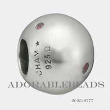 Authenitc Chamilia Soho Collection Silver Roundabout Fuchsia Bead 2025-0777