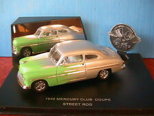 MERCURY CLUB COUPE HOT ROD 1949 SILVER AND GREEN EAGLE UNIVERSAL HOBBIES USA CAR