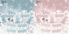 2 PACKS BABY & BUNNIES TABLE CONFETTI PINK & BLUE CHRISTENING/BABY SHOWER