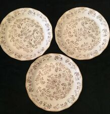 New listing Set of 3 Temp-tations Tara Brown Ivory Floral Lace Scalloped Dinner Plates