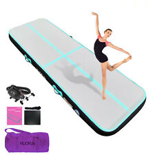 """Inflatable Gymnastics Mat Tumbling Tumble Track Gym Floor Mat 10ft 13ft 8"""" Thick"""