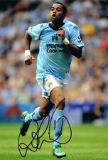 Firmato ROBINHO Manchester City Autografo foto Brasile Santos Milano