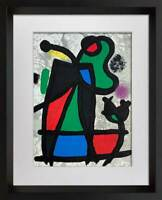 Joan MIRO Original Limited EDITION Lithograph +Cat. Ref c.134 w/Frame Included