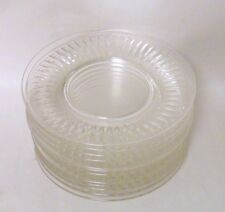 "12 Hawkes 1930 - 1940 Vintage Clear Cut Glass 8"" Plates ~ Ramsey 7334"