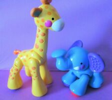 Fisher Price Animals Baby Toys Elephant And Giraffe Clicking Toys !