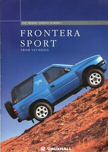 VAUXHALL FRONTERA SPORT & S - 1996/1997 UK sales brochure