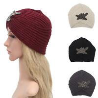Women's Ladies Winter Warm Beret Braided Baggy Knit Crochet Beanie Hat Ski Cap