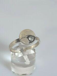 Wunderschöner Ring Silber 925, KJP Finnland, Bergkristall, 70er Jahre
