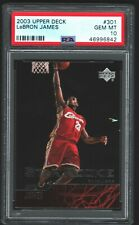 2003 Upper Deck LeBron James Rookie 301 PSA 10 GEM MINT LA Lakers