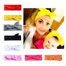 8 Pcs Baby Toddler Girls Kids Bunny Rabbit Bow Knot Turban Headband Hair Band