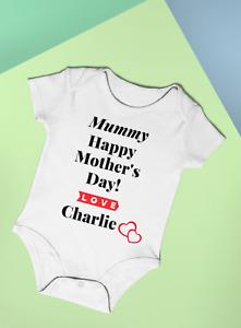 Happy Mother's Day Gift Mummy/Nanny/Granny/Nana Baby Vest Bodysuit 100% Cotton