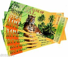 LOT 5 :Commercial BANK of BENGAL 100 RUPEES 2014 POLYMER TIGRE ELEPHANT NEUF UNC