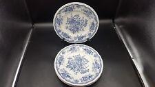 Kensington Staffordshire Ironstone Balmoral Blue 10 1/4 inch Dinner Plates
