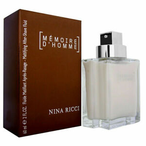 Memoire D'Homme Nina Ricci Men's Matfying After Shave Balm 2.0 oz New in Box NIB