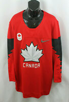 Team Canada Nike Mens Jersey Hockey Olympic Authentic Official Red Sz L
