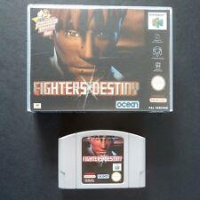 FIGHTERS DESTINY Nintendo 64 PAL English・♔・BEAT EM UP OCEAN N64 with custom case