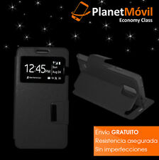 cover book and window black VODAFONE SMART FIRST 6 case with magnetic