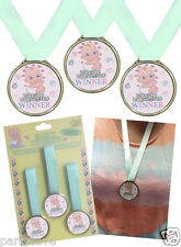 3 PACK BABY SHOWER PARTY WINNERS MEDALS WITH RIBBON FUN GAMES