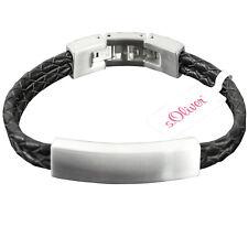 s.Oliver Herren Leder Armband So1378/01 schmuck Herrenschmuck Armbänder Lederar