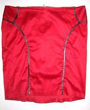TORRID Red Black Slim Pencil SKIRT Womens PLUS 22 3 3X Satin Retro Rockabilly