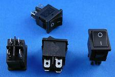 Einbau Wippschalter 19 x 13 mm, 2 polig, schwarz