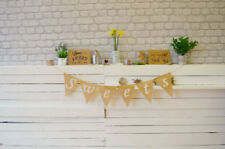 XL Sweets Hessian Fabric Bunting Banner Wedding Sweet Table Chart Decor