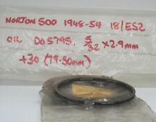 "NORTON 500 1948-1954 18/ES2 OIL CONTROL ANELLO (1) +0.0030"" NOS 5/32"""