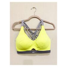 Victoria's Secret VSX SPORT Gray & Neon Yellow Sports Bra size 36D Gym