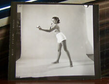 Vintage Sexy Pin Up Original Small Photograph Photo Risque Lovely Female Tennis