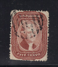 US Stamp Used Sc#28b Bright Red Brown Trimmed Perfs Sound Otherwise $2,500 cv