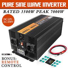 Inversor onda pura 3500W 7000W 12V 220V Convertidor Power Inverter Cable