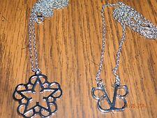 MIP-Black Veil Brides Star logo/ Initials logo pendants w/chains (2 pendant set)