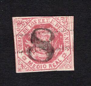 "Venezuela 1873 stamp Mi#20(2) ""8"" used CV=5€"