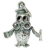 VINTAGE SILVER MOVING THE WISE OLD OWL CHARM