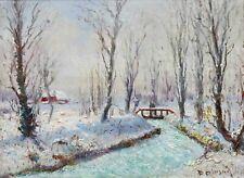Jacques BELTRAND (1874-1977) marais poitevin enneigé HSP Coucy-les-Eppes vendée