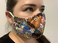 Disney Pixar Adult Washable Reusable Layer Face Mask Breathable 100% Cotton