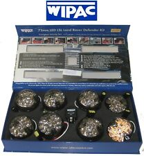 Land Rover Defender Front & Rear Clear Smoked Wipac LED Light Upgrade Kit 73mm