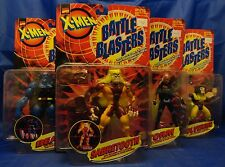 X-Men Battle Blasters Full Set MOC Canada Only RARE Storm Sabretooth Wolverine